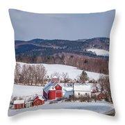 The Bogie Mountain Farm Throw Pillow