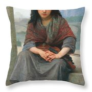 The Bohemian Throw Pillow by William Adolphe Bouguereau