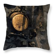 The Boiler Gauge Throw Pillow