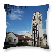 The Boise Depot Throw Pillow