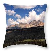 Mountain Pass - Colorado Throw Pillow