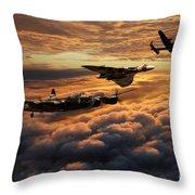 The Bomber Age  Throw Pillow