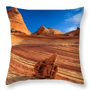 The Bone Yard In The North Coyote Buttes Throw Pillow