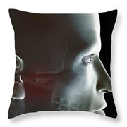 The Bones Of The Head Throw Pillow