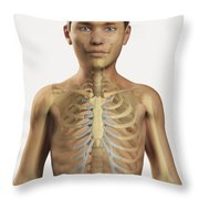 The Bones Within The Body Pre-adolescent Throw Pillow
