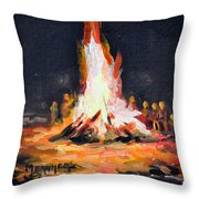 The Bonfire Throw Pillow