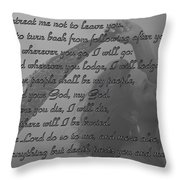 The Book Of Ruth Throw Pillow