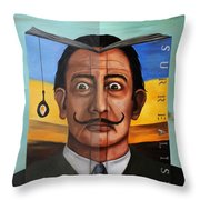 The Book Of Surrealism Edit 5 Throw Pillow