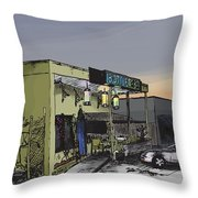 The Bottletree Cafe Throw Pillow