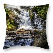 The Bottom Of Mingo Falls Throw Pillow