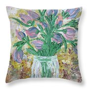 The Bouquet II Throw Pillow by Molly Roberts