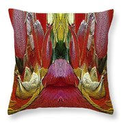 The Bouquet Unleashed 24 Throw Pillow