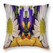 The Bouquet Unleashed 90 Throw Pillow