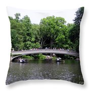The Bow Bridge Throw Pillow