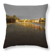The Bow River Throw Pillow