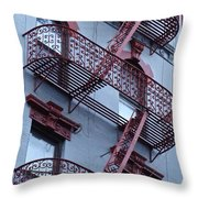 The Bowery Blues Throw Pillow