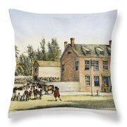 The Bowery, New York, 1783 Throw Pillow