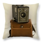 The Box Brownie Throw Pillow