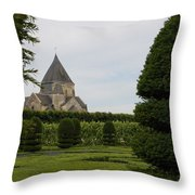 The Boxwood Garden - Villandry Throw Pillow