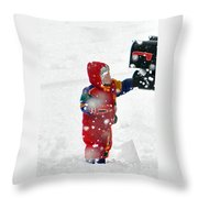 The Boy And The Box 2 Throw Pillow