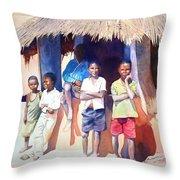 The Boys Of Malawi Throw Pillow