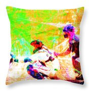 The Boys Of Summer 5d28228 The Catcher Square Throw Pillow