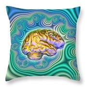 The Brain Throw Pillow