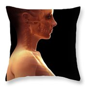 The Brain Female Throw Pillow