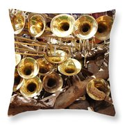 The Brass Section Throw Pillow