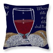 The Bread Of Life Throw Pillow by Robyn Stacey