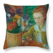 The Breakfast Porch Throw Pillow by William James Glackens