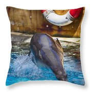 The Breaststroke  Throw Pillow