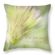 The Breathings Of Your Heart - Inspirational Art By Jordan Blackstone Throw Pillow