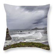 The Brewing Storm Throw Pillow