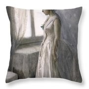 The Bride Throw Pillow by Anders Leonard Zorn