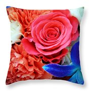 The Brides Flowers Throw Pillow