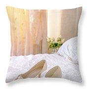 The Brides Sandals Throw Pillow