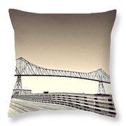 The Bridge At Astoria Throw Pillow
