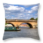 The Bridge At Henley-on-thames Throw Pillow