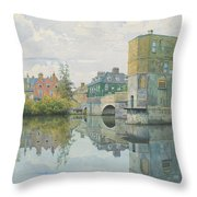 The Bridge At Saint Ives Throw Pillow