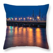 The Bridge Of Lions St. Augustine Florida Throw Pillow