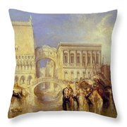 The Bridge Of Sighs Throw Pillow