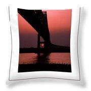 The Bridge Poster Throw Pillow