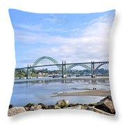The Bridge To Old Town Throw Pillow