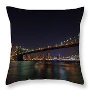 The Bridges Of New York Throw Pillow