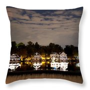 The Bright Lights Of Boathouse Row Throw Pillow