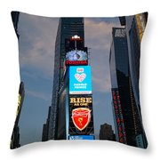 The Bright Lights Of Times Square Throw Pillow