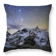 The Bright Stars Of Auriga And Taurus Throw Pillow