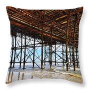 The Brighton Pier  Throw Pillow