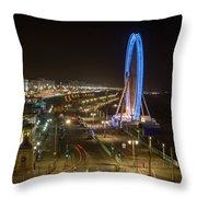 The Brighton Wheel At Night Throw Pillow